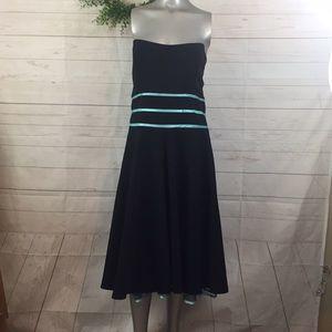 Studio 1940 strapless black dress 18